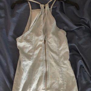 Mimi Chica Dresses - Chic & Fitted light denim Mimi Chica sundress.